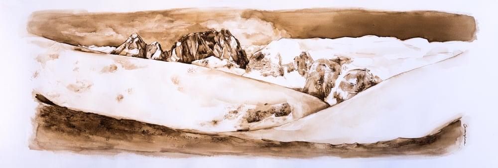 Image of Sassolungo Study nº2, Dolomites Series