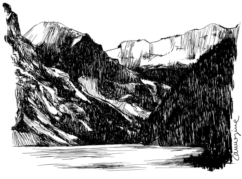Image of Study of an alpine lake