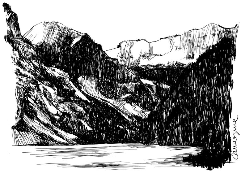 Image of Study of an alpine lake