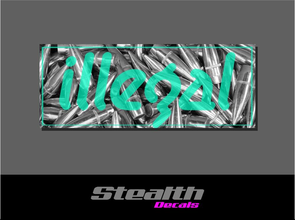 Image of ILLEGAL Mint Bullets Slap Sticker