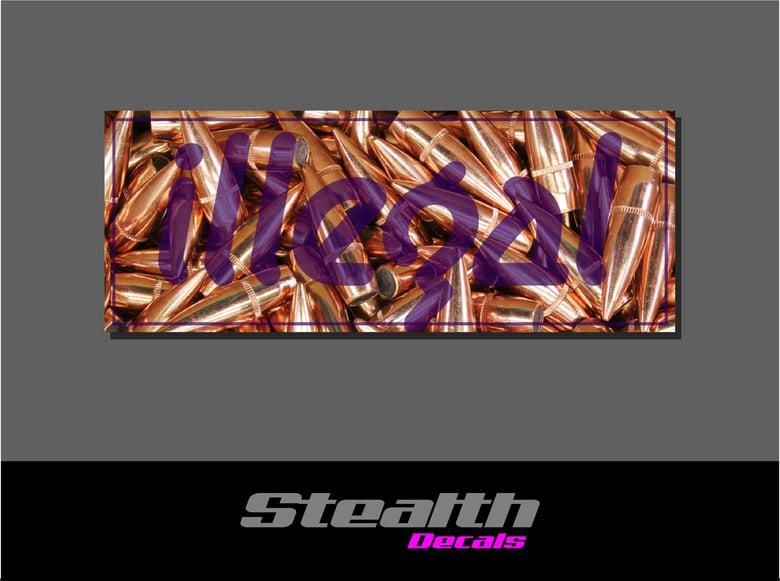 Image of ILLEGAL Purple Bullets Slap Sticker