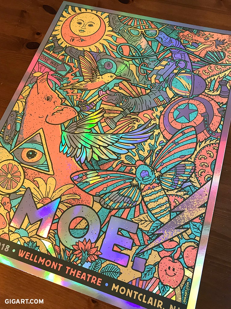Image of Moe. Rainbow Foil Variant - Montclair NJ