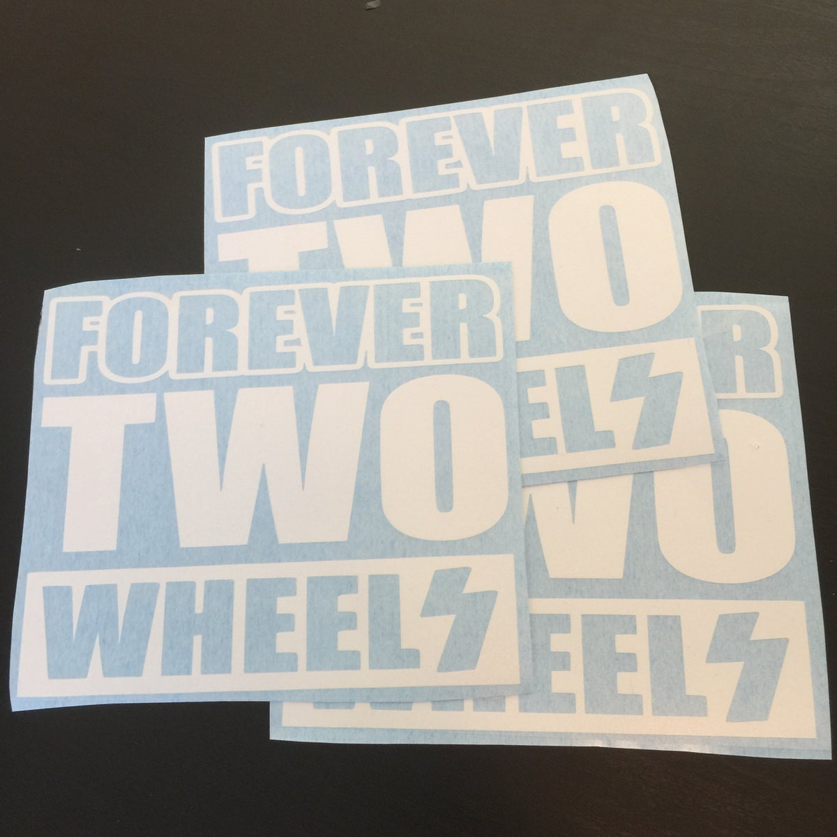 Image of forever two wheels decal
