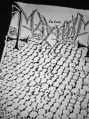 """Image of Mayhem """"Deathcrush"""" Demo T Shirt"""