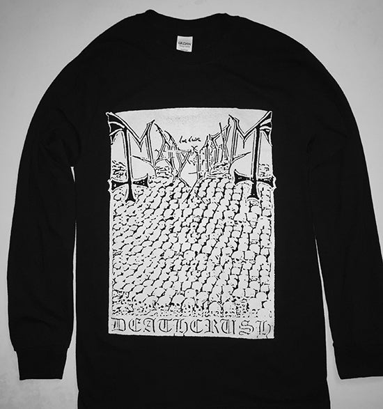 "Image of Mayhem ""Deathcrush"" Demo Artwork Men's Longsleeve T-shirt"