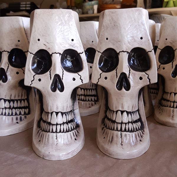 Image of Irwin the 2nd Skull Mug Limited Edition of 100 Bone