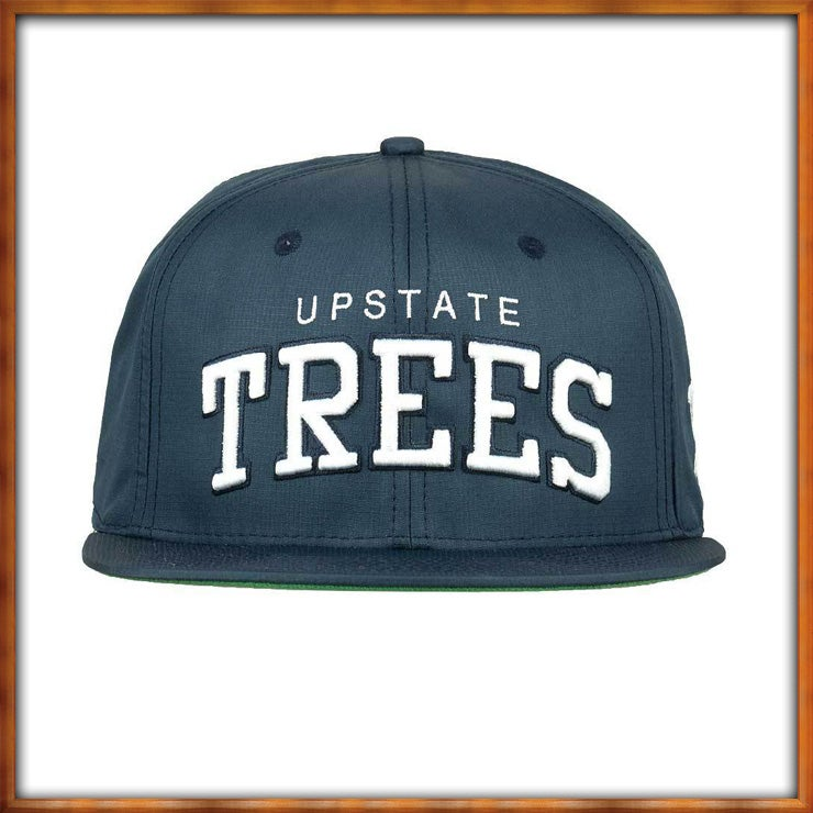 Image of Upstate Trees Snapback v4 Navy and White