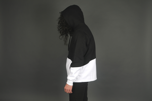 Image of Mono Color Block Hoodie