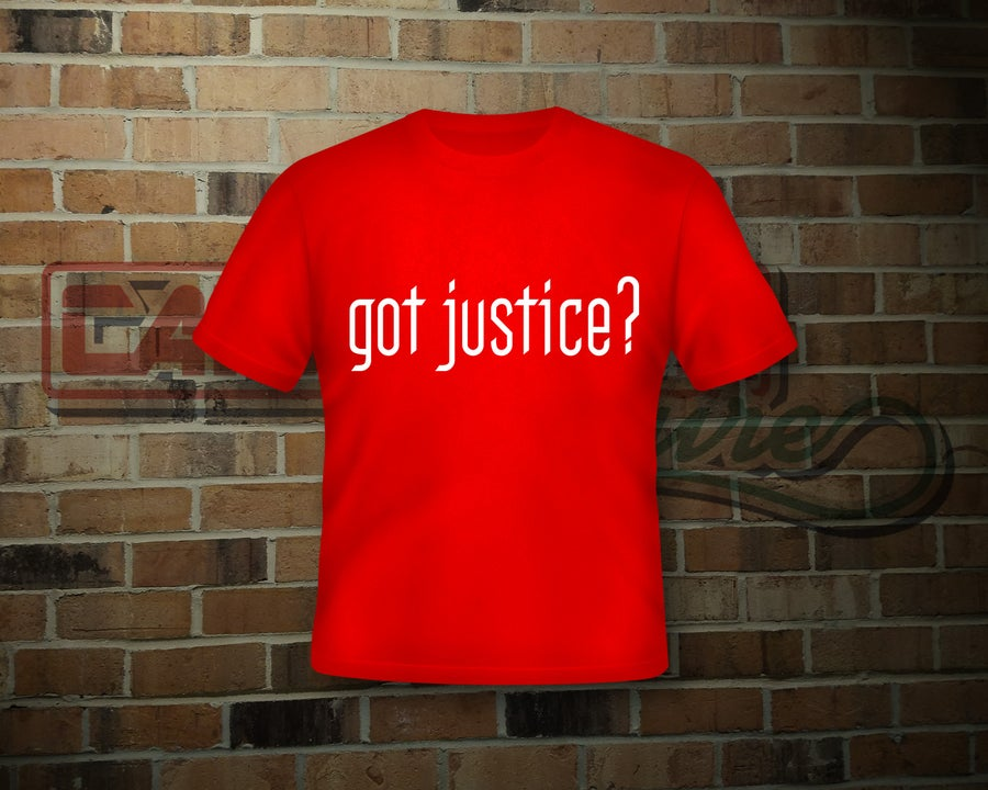 Image of Unisex Got Justice Red T-Shirt (2 Sided Print)