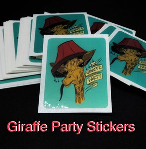Image of CLEARANCE - Giraffe Party Stickers