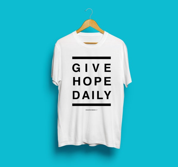 Image of Give Hope Daily - White & Black -Ladies