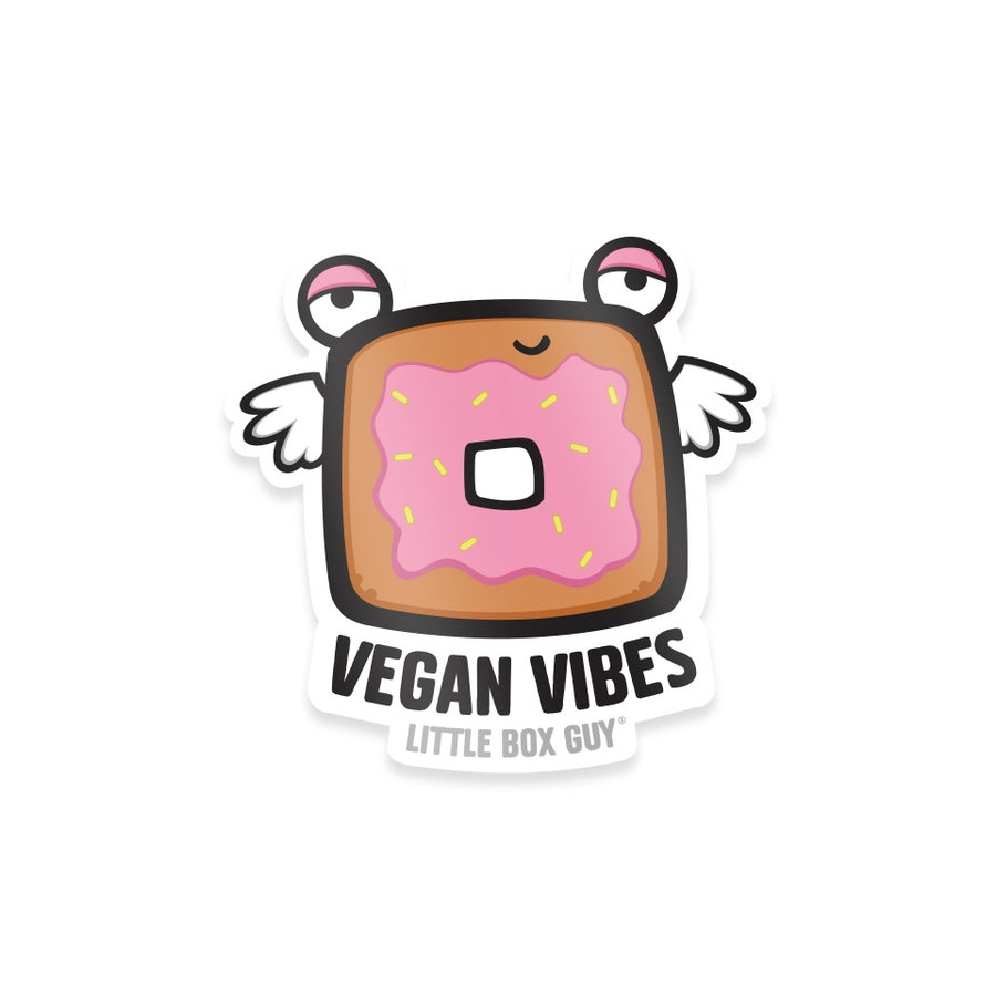 Image of Vegan Vibes: Doughnut (Die-Cut Sticker)