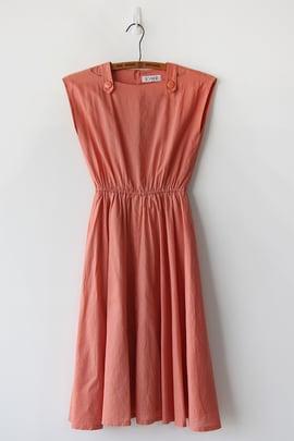 Image of SOLD Dusty Orange Shoulder Detail Dress