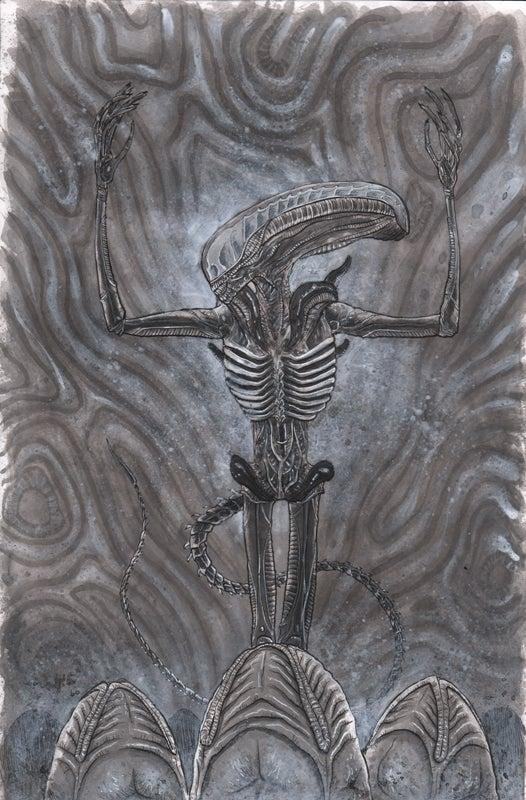 Image of ALIEN DAY PAINTING