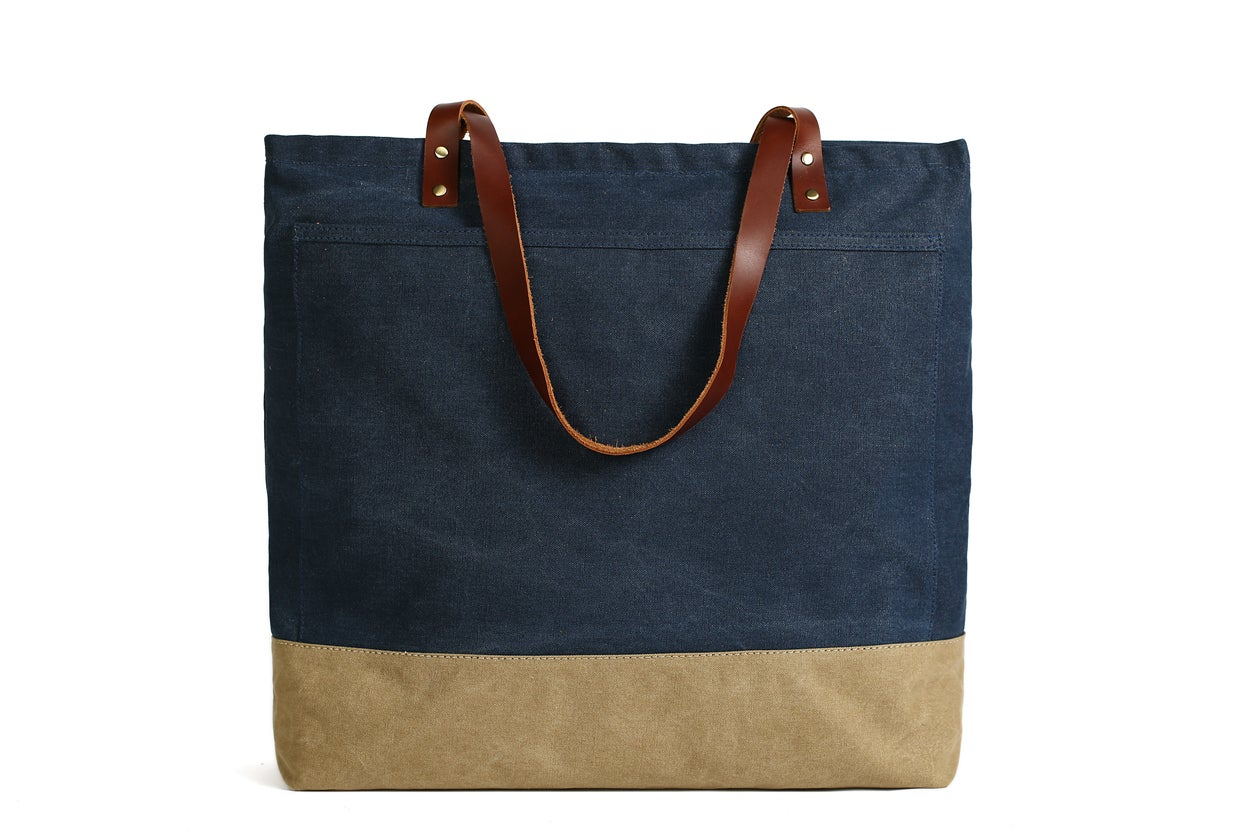 827686edc163 MoshiLeatherBag - Handmade Leather Bag Manufacturer — Handmade Canvas Tote  Bags with Leather Trimming