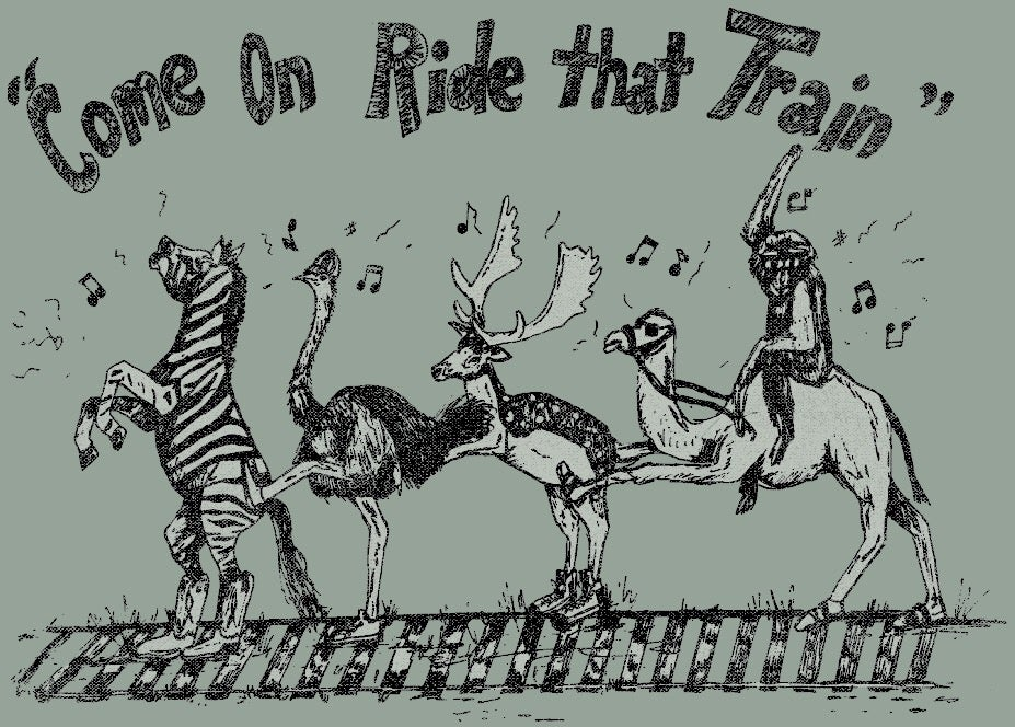 Image of Adult Come on Ride That Train Tee