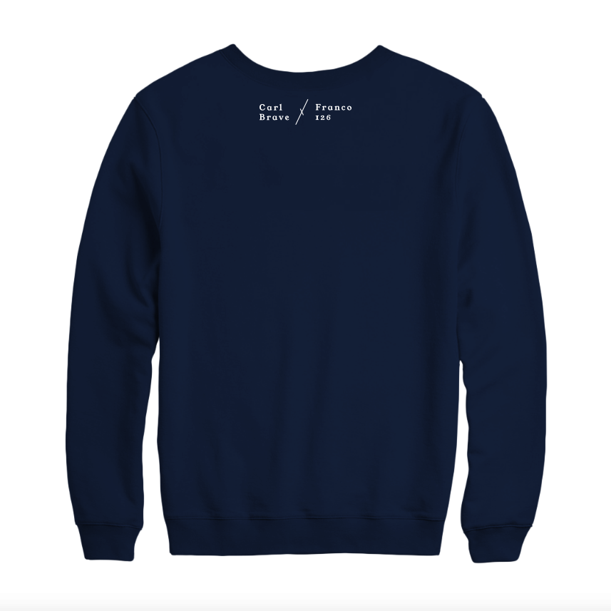 Image of Carl Brave x Franco126: PELLARIA Sweatshirt (blue navy)