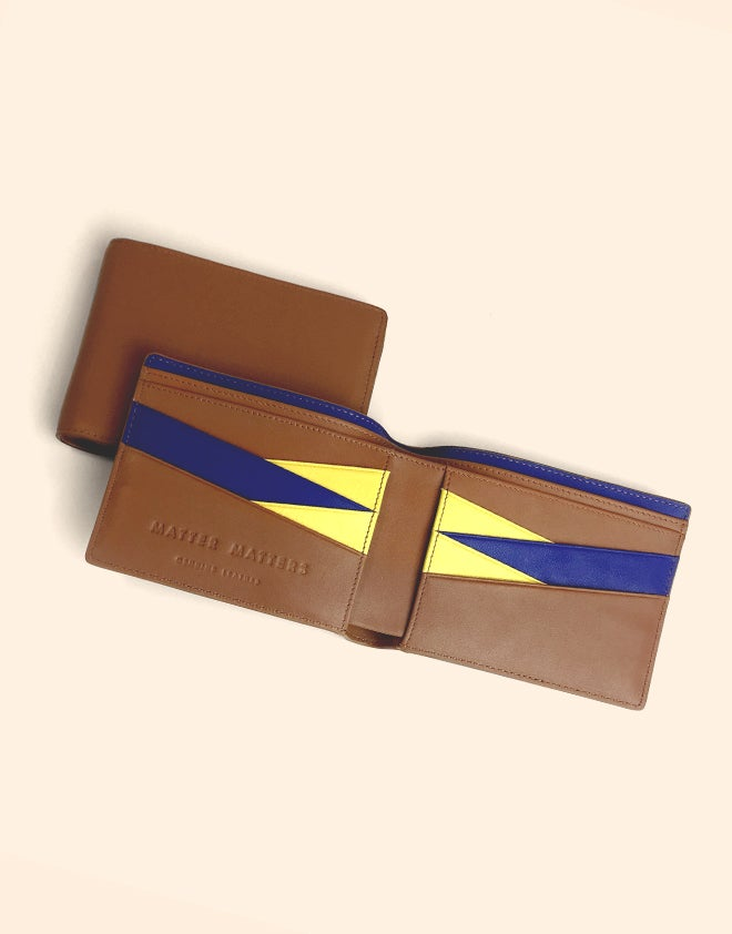 BILLFOLD WALLET - Brown/ Blue