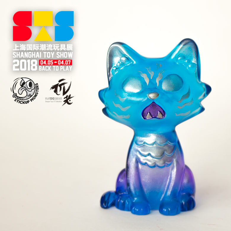 Image of Stickup monsters Blue clear Baby Wananeko STS ver.