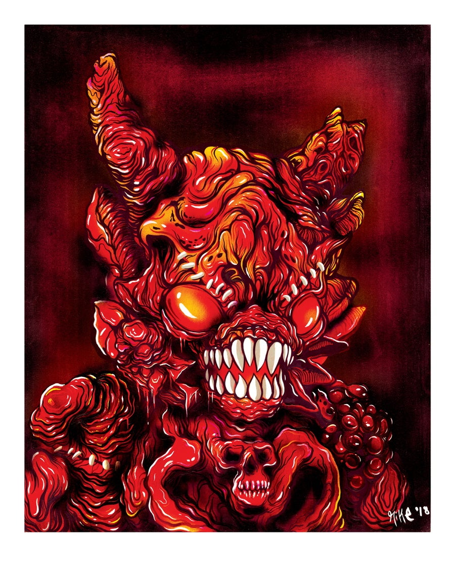 Image of [Premium Art print / Limited Edition] Demon Kaimu - Red