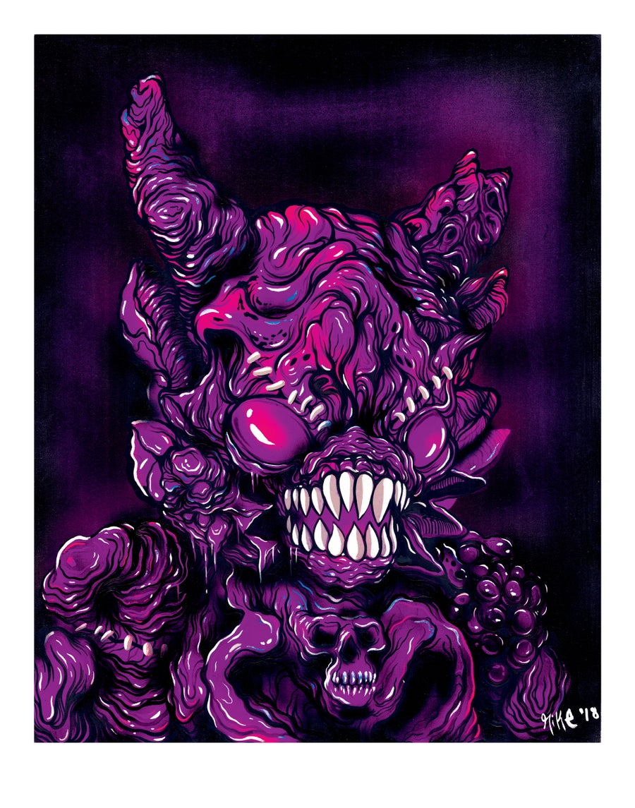 Image of [Premium Art print / Limited Edition] Demon Kaimu - Purple