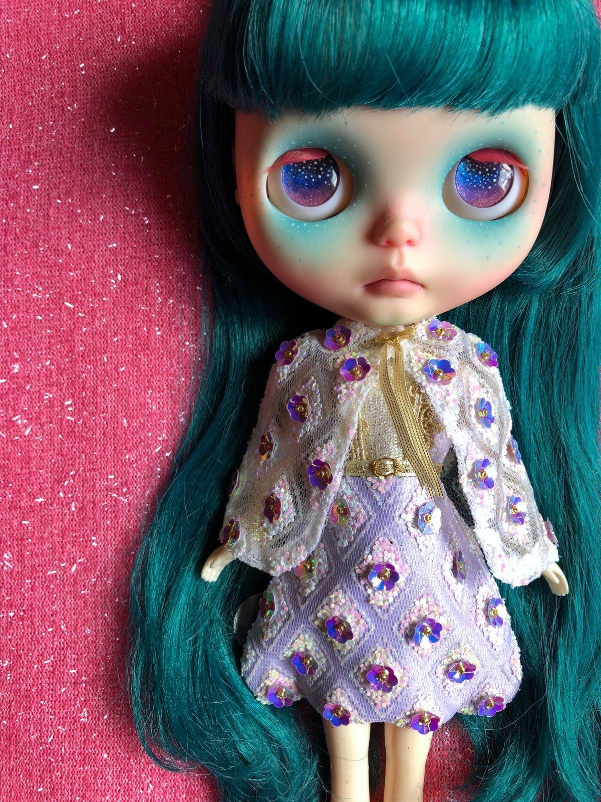 Image of LoungingLinda Luxe Fabergé Dress & Cape ~ Lilac