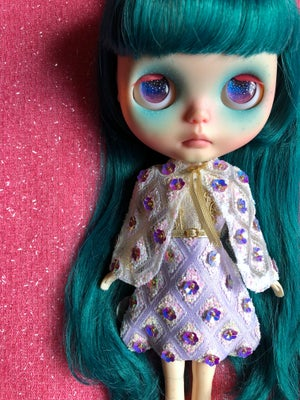 Image of LoungingLinda Luxe Fabergé Dress & Cape ~ Lilac