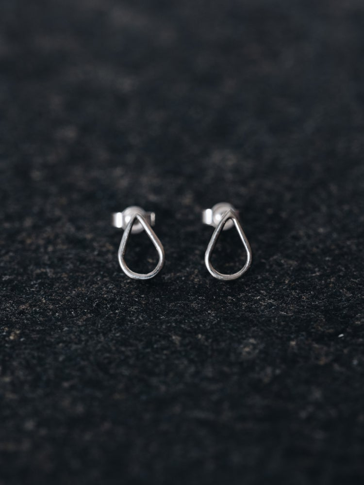 Image of Silver Drop Studs