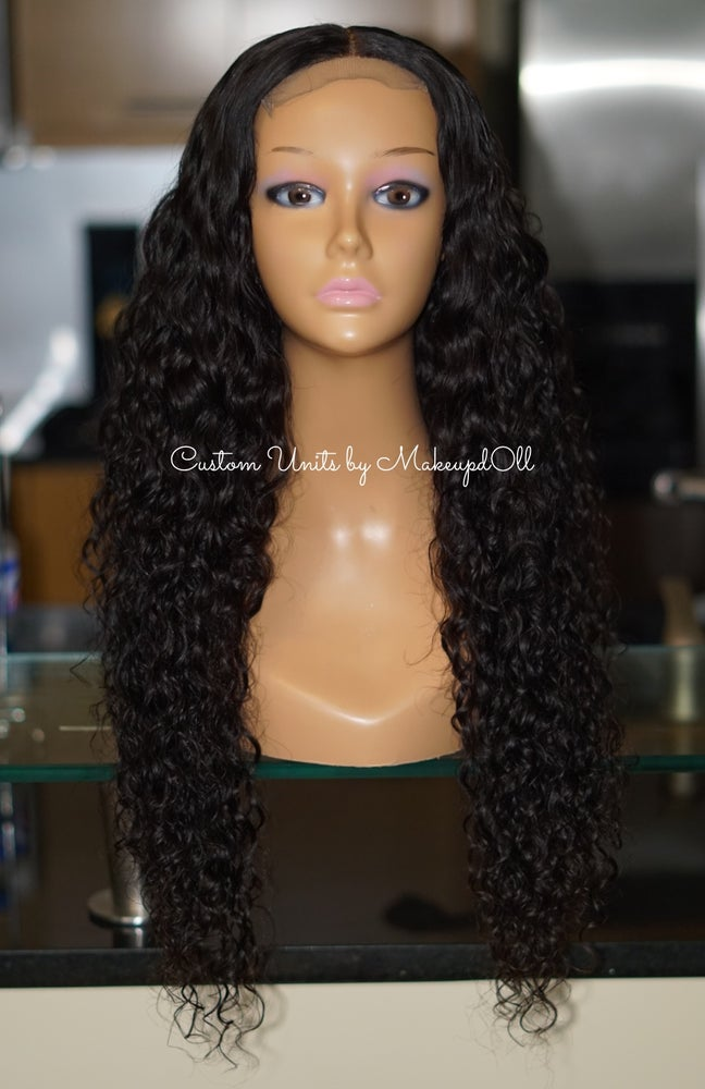 "Image of Cambodian Natural Waves 24"" Lace Closure Wig!"