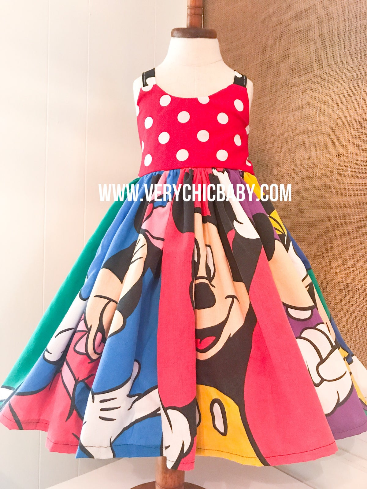 Image of Vintage Mickey & Friends Dress