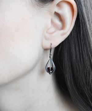 "Image of Medium ""Momento"" Teardrop Earrings with Garnet"