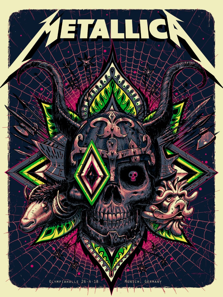 Image of Metallica Munich Artist Edition Poster