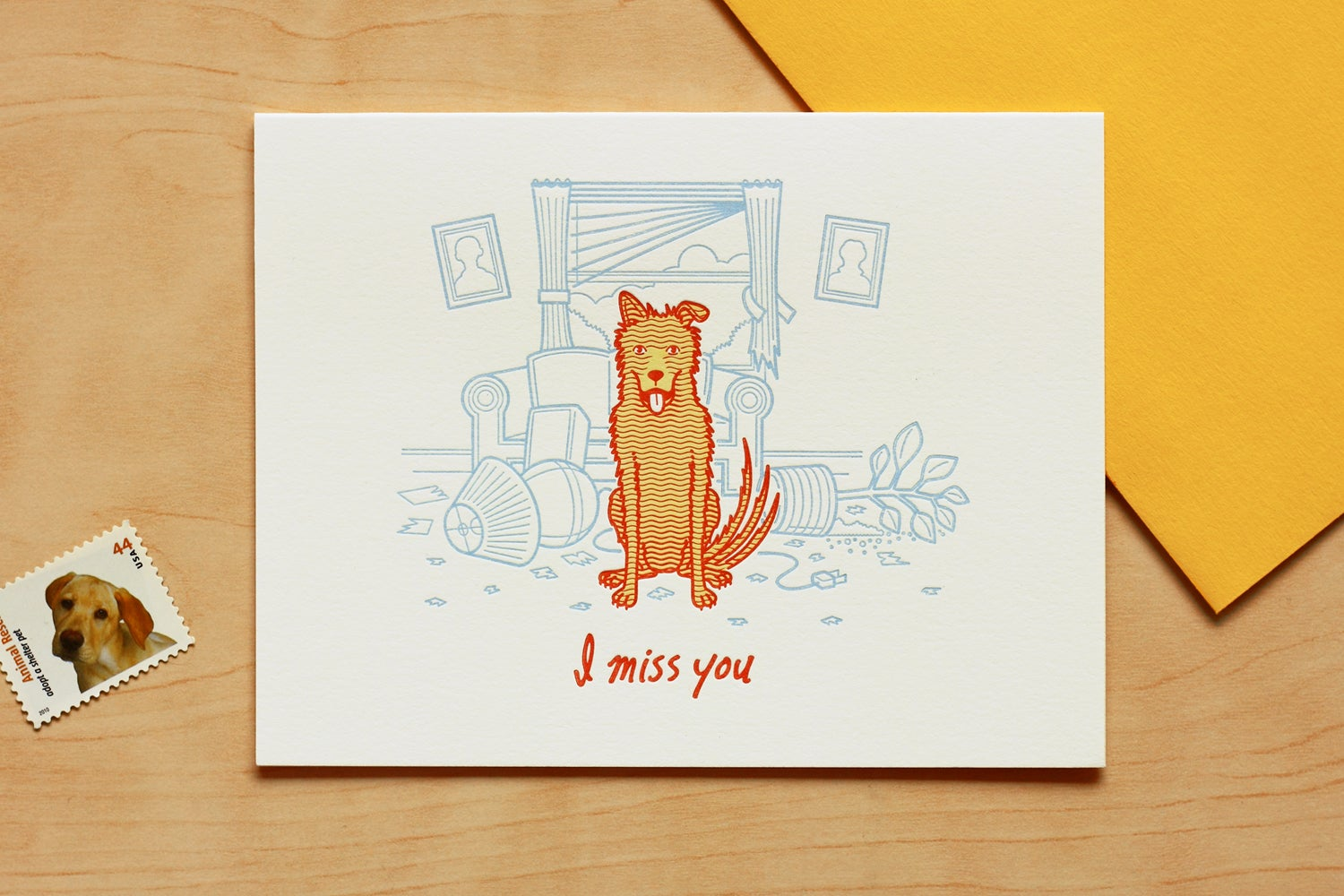 "Image of HOME ALONE ""I MISS YOU"" Card"