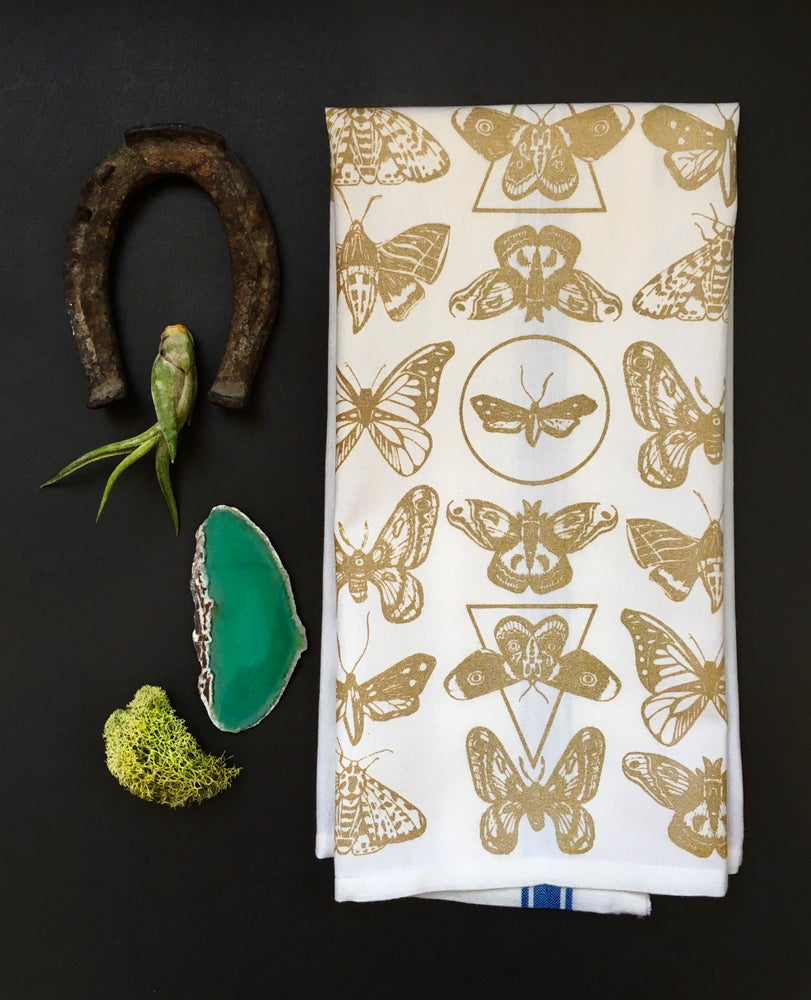 Image of Moth Pattern Towel