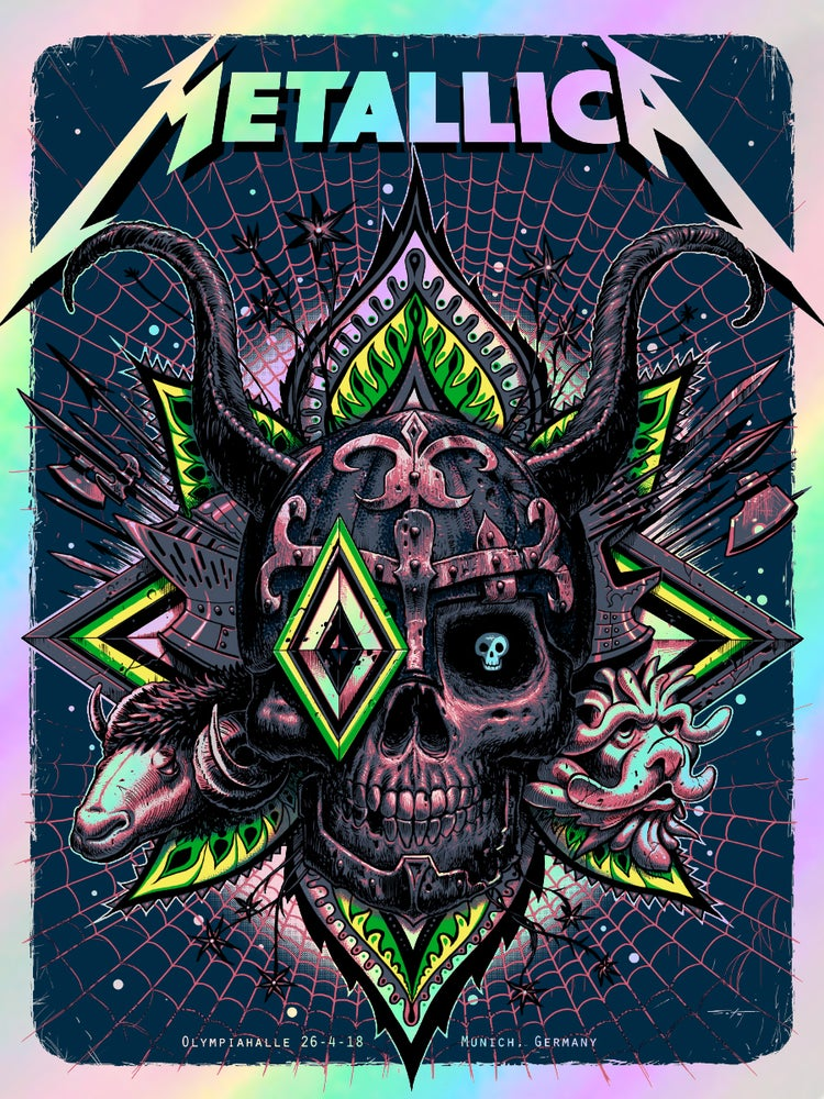 Image of Metallica Munich Rainbow Foil Edition Poster