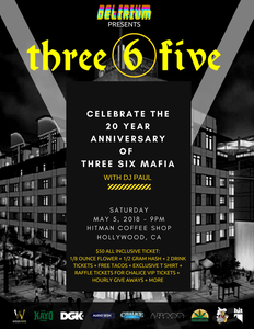 Image of 20th anniversary of Three 6 Mafia with DJ Paul in Hollywood