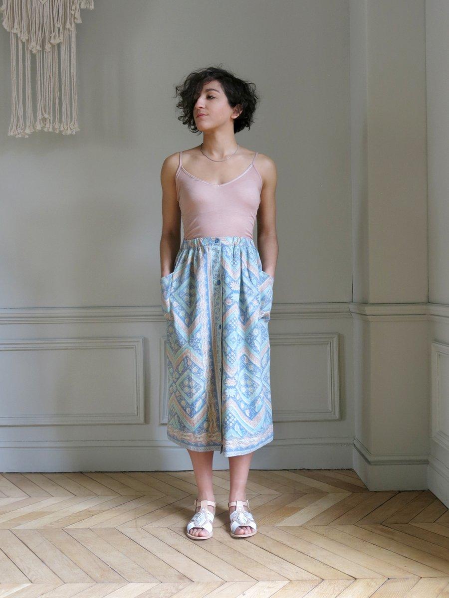Image of Jupe MADÉ - batik Azur/nude (ancien prix 64€)
