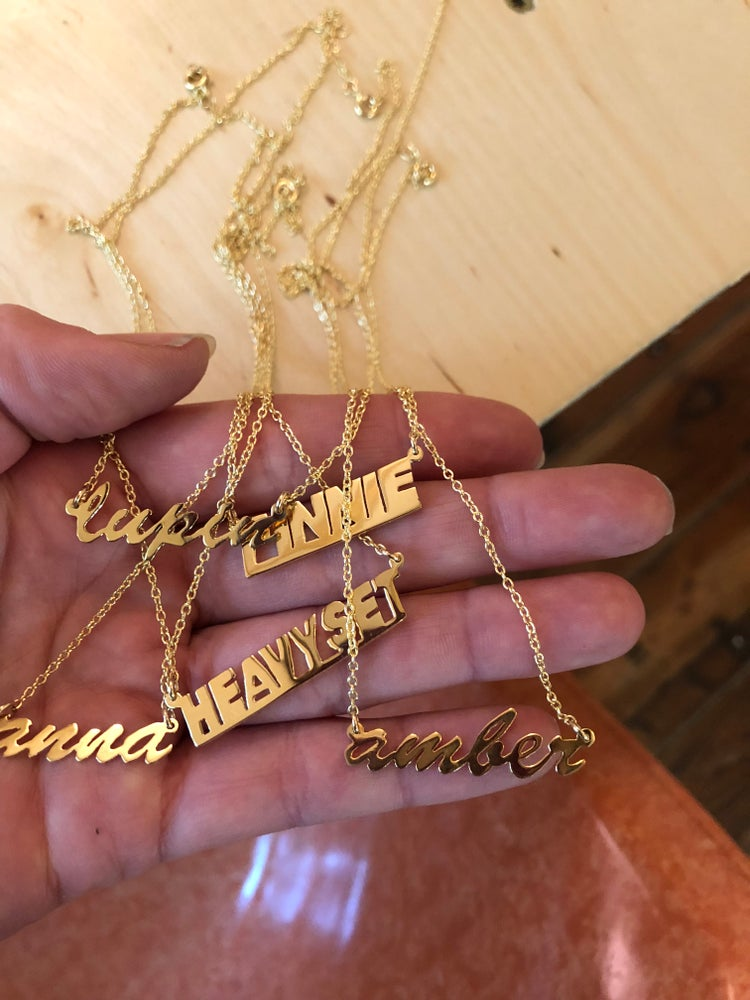 Image of Custom Nameplate Necklace