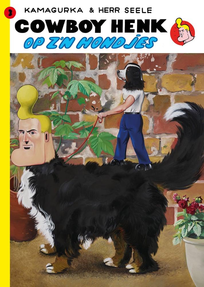 Image of Cowboy Henk op z'n hondjes