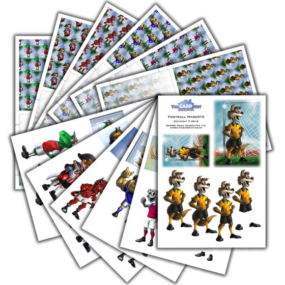 Image of Football Mascots - card kits