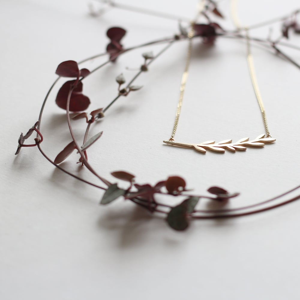 Image of Fairtrade Gold Branch Necklace