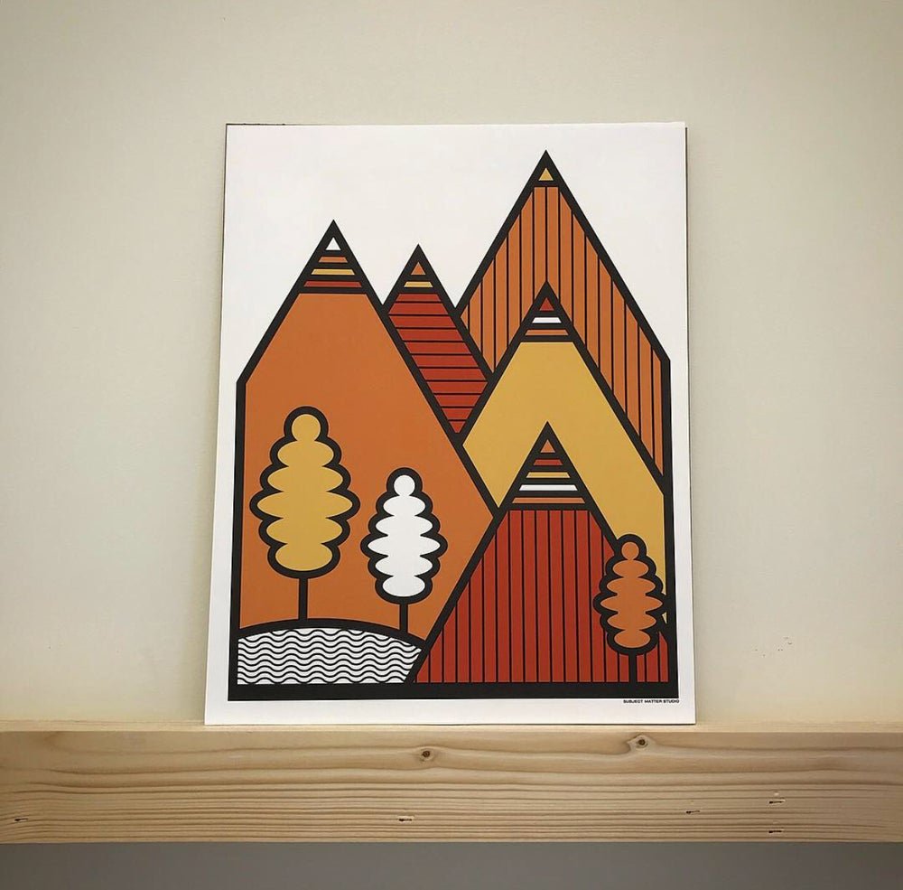 Image of Mountains Art Print