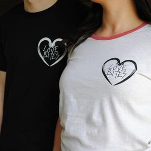 Image of Love Bites snake black unisex t-shirt