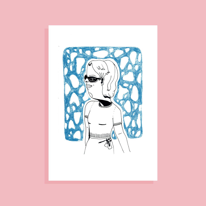 Image of Ann on hols - Screenprint