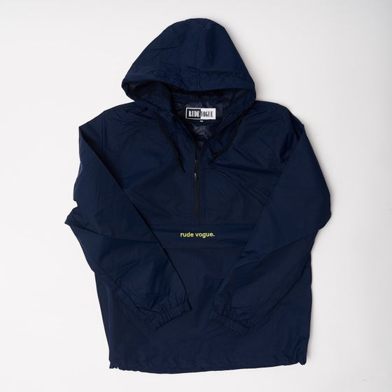 Image of Navy/Soft Lemon Anorak Windbreaker