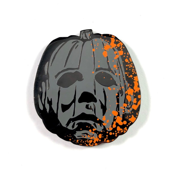 Image of Jack O' Myers Version 4 (Splatter) Pin