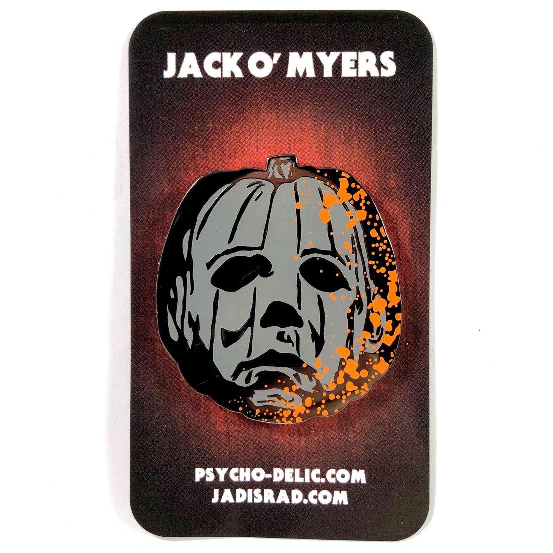 Image of Jack O' Myers Version 4 (Splatter) Pin
