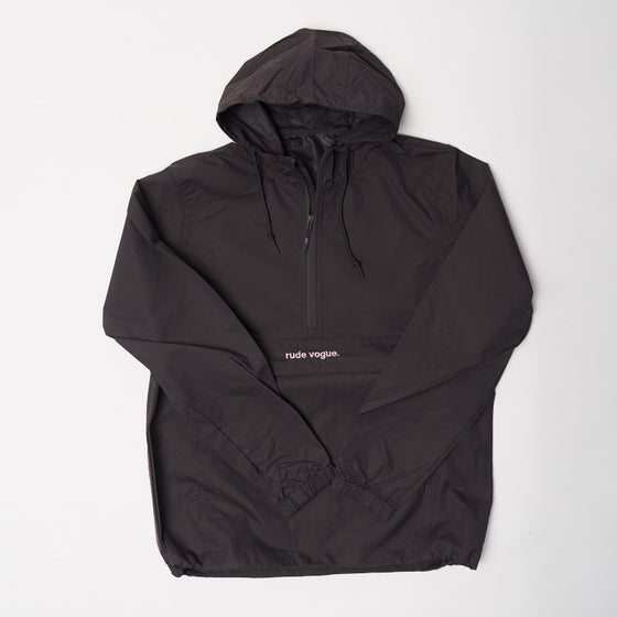 Image of Charcoal Grey/Soft Salmon Anorak Windbreaker
