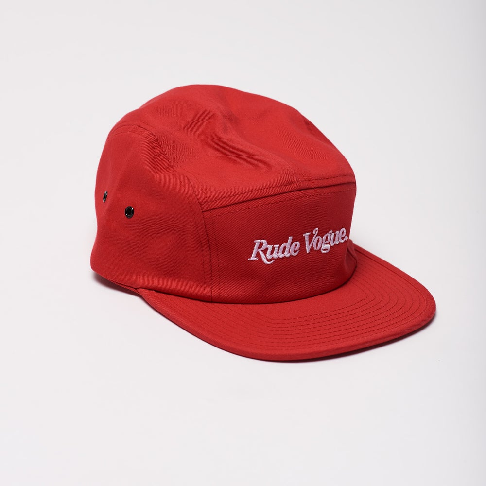 Image of Red 5 Panel Cap