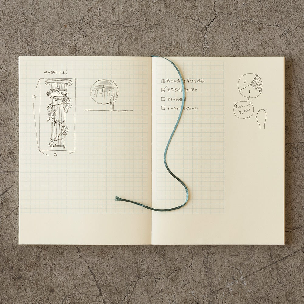 Image of MD Paper 10th Anniversary Limited Edition Grid with Margin A5 Notebook